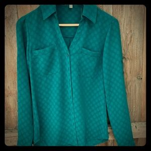 "Express Portofino ""slim fit"" blouse size xs"
